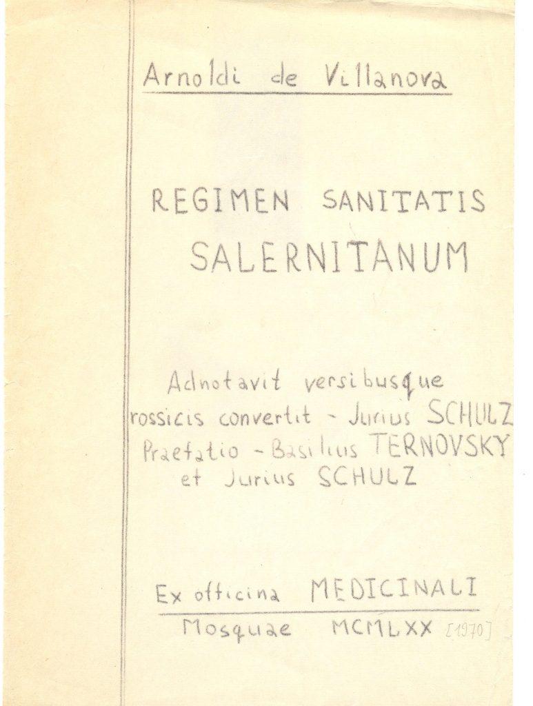 regimen sanitatis salernitanum