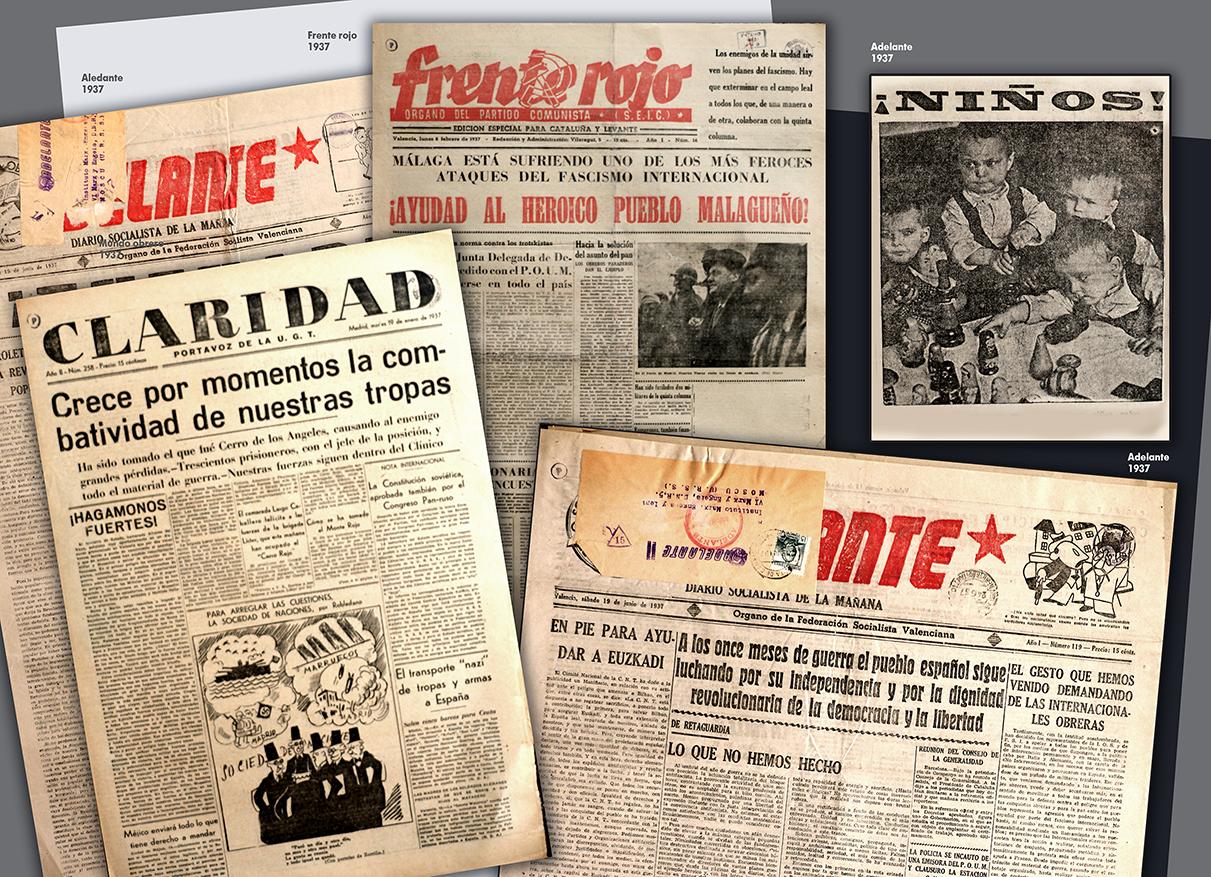 Коллаж выставки Гражданская война в Испании