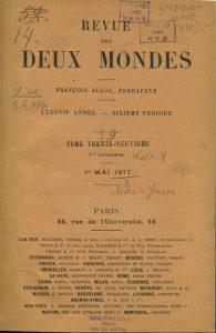 Deux Mondes 1/05/1917
